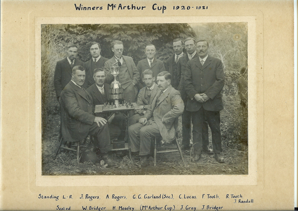 Chess Club 1920-21