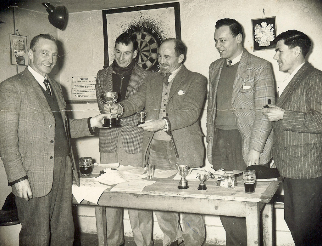 Cricket Club prize giving in 1950s