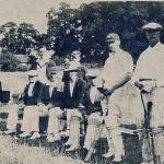 Cricket at Heath End in 1930s