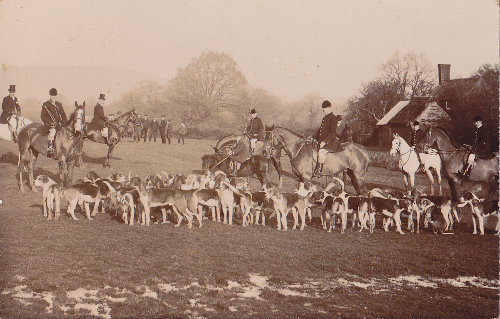 Leconfield Meet at Lodsworth Common 1931