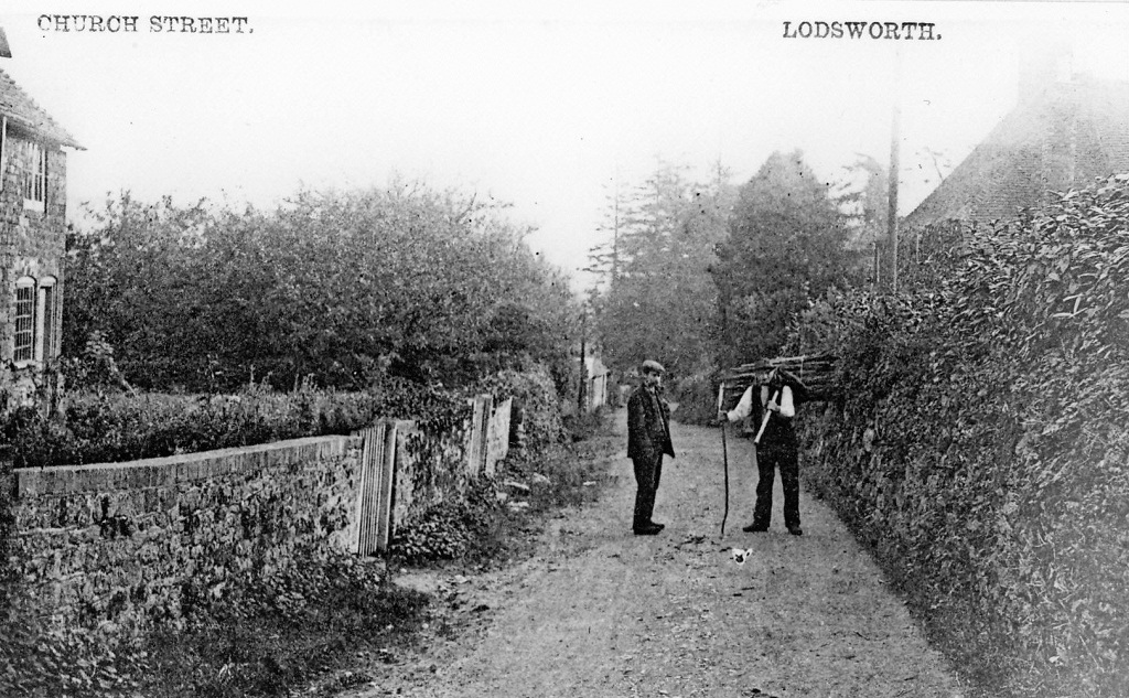 Mr Lovell & Mr Crosswell in Church Lane 1910