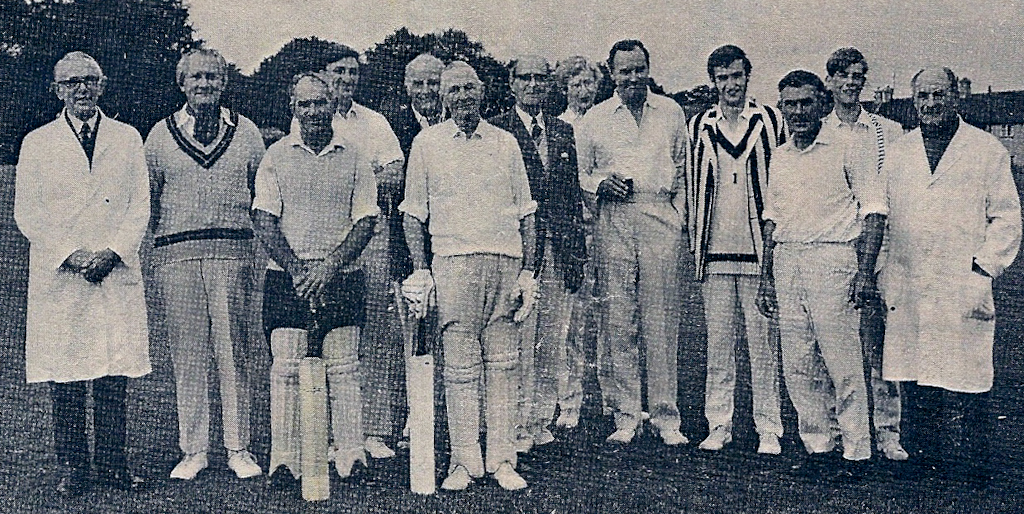 Over 40s cricket match 1970