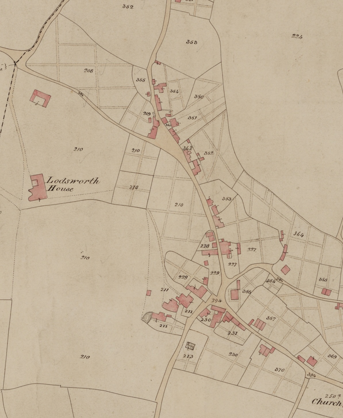 Lodsworth Tithe Map 1842 - The Street