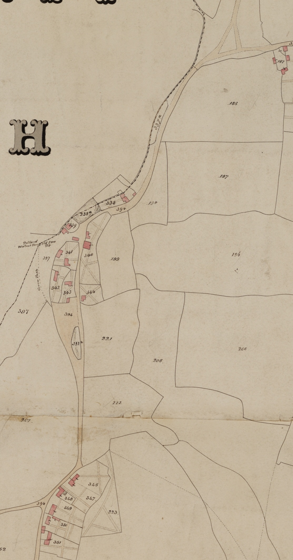 Lodsworth Tithe Map 1842 - Smithbrook