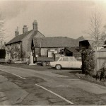 Lodsworth garage with the Morley wheelwrights shop behind 1960s