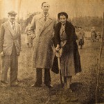 Mrs R D Hammick plants an oak to commemorate the Coronation 1953