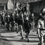Scouts & Cubs in St George's Day parade, Lodsworth 1958-9