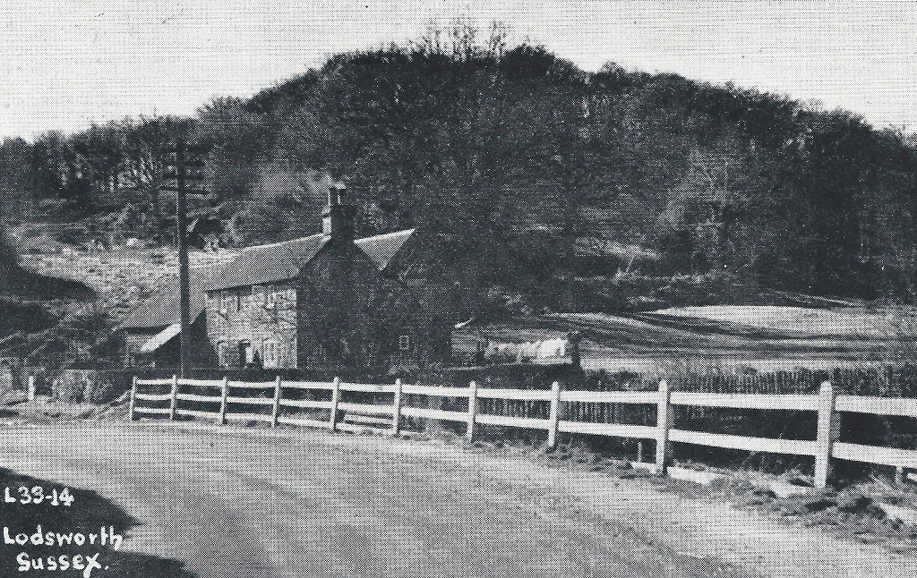 Smithbrook Cottage and pond in 1949