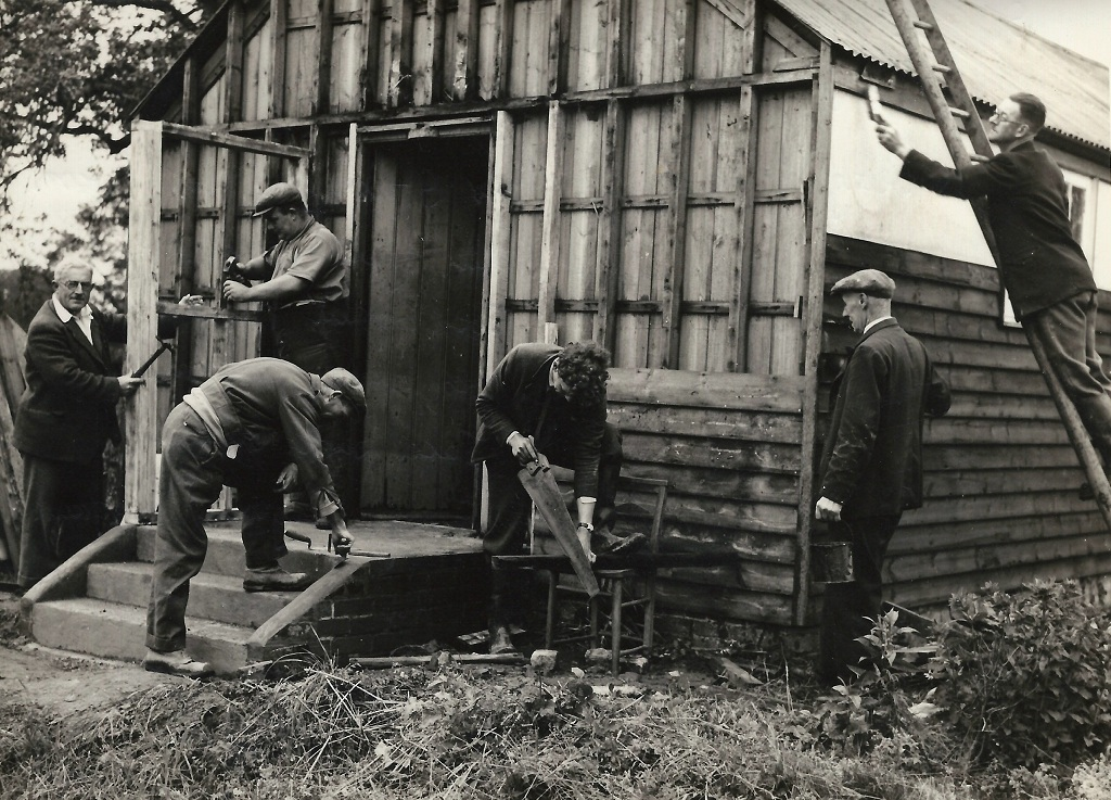 St Hilda's Chapel, Lickfold being repaired 1947-8