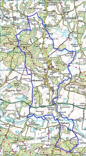Present day Lodsworth parish boundary