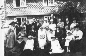 Can anyone identify the people in this wedding photograph and the date?